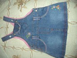 Фирменные комбинезон, сарафан, джинс котон юбка с вышивкой размер 68