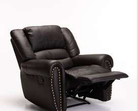 Gino bonded leather upper armchair recliner