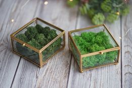 Szklana szkatułka ZŁOTA SREBRNA MIEDZIANA różne modele