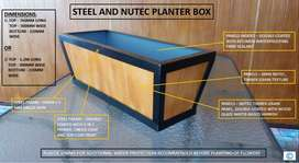 STEEL AND TIMBER GRAIN NUTEC PLANTER BOX