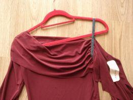 Asymetryczna bluzka hiszpanka odkryte ramiona rozcięcia S/M