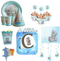 """Декор """"Мишка Тедди"""" (набор, подвески, надпись, гирлянда,топперы, шары)"""