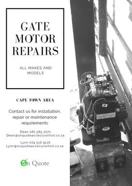 GATE MOTOR GIVING YOU PROBLEMS?