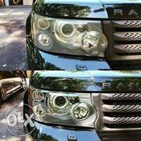 Land rover headlight cleaning 0
