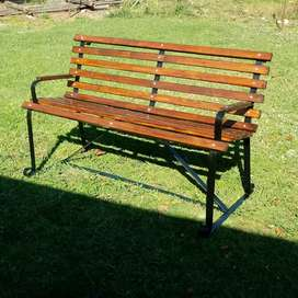 PARK BENCH WITH ARM RESTS