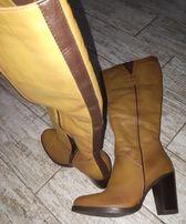 Новые кожаные зимние сапоги Италия