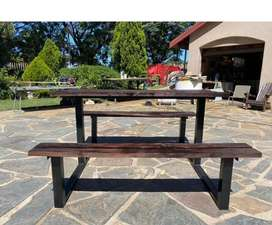 Table bench set for sale