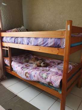 Wood twin beds