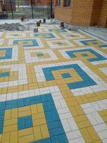Тротуарная плитка Кирпич 30-40мм