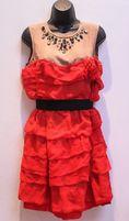 Sukienka jedwab 100% lanvin studio kryształy conscious hm zara h&m