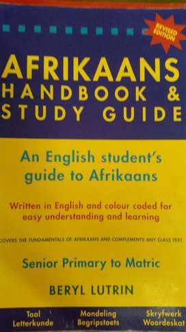 Afrikaans handbook and study guide for sale.