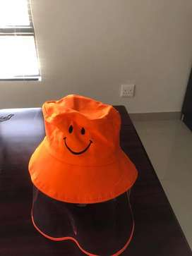Kids Hat with face shield for Creche