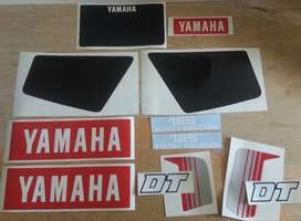 1982 Yamaha DT125 decals stickers graphics kits