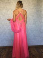 Шикарное вечернее платье Mori Lee цвет голливудский розовый БУ