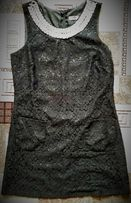 Маленькое чёрное платье с жемчужним воротом