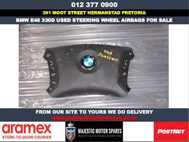 Bmw 330d E46 used steering wheel airbags for sale