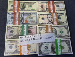 Сувенирные деньги Доллары Евро Гривны