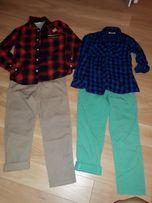 Koszule i spodnie H&M i Reserved 128