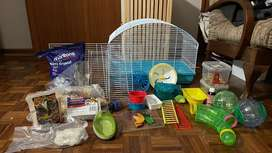 All the needs for a hamster or small animal.