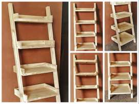 Display unit leaning ladder Cottage series 1900 Five tier - Raw