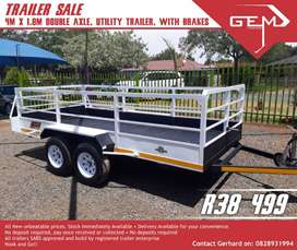 4m x 1.8m Double axle Utility with Brakes - R38499