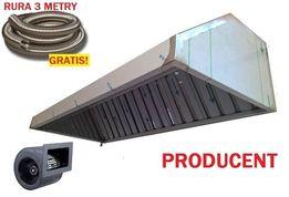 Okap Gastronomiczny 100x70x40 Turbina Filtry Rura 3m Wysyłka