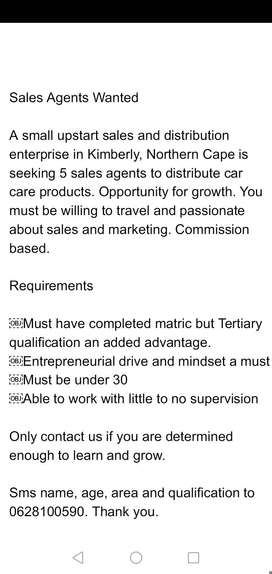 Sales Distributors Wanted