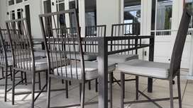 EXEXCLUSIVE - Terrace Furniture Table and 10 Chairs