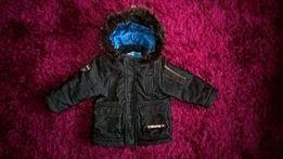 Cieplutka zimowa kurtka dla synka r. 92