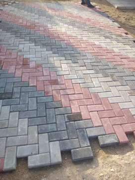 Based on paving. tiling and building