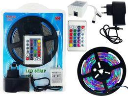 taśma LED RGB 5m zestaw pilot +sterownik +zasilacz , wodoodporna