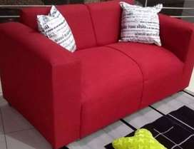 Rooi bank / red fabric material sofa couch