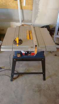 Image of Table saw and Radial arm saw