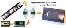 Оцифровка відео- и аудіо- записів, а також фотоплівок