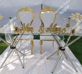 Event glass tables