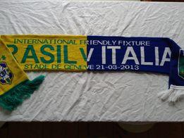 Nowy oryg kolekcjonerski szalik piłkarski Brazil-Italy mecz towarzyski