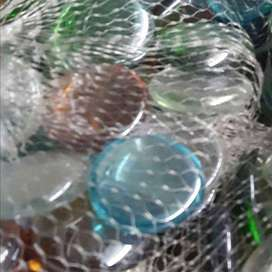 GET CRAFTY with these FLAT Glass MARBLES - Bucket almost sold out.