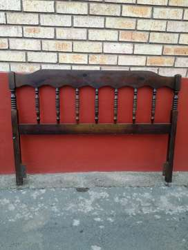 Wooden headboard for single bed - R80