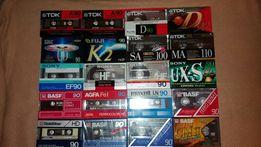 Запечатанные кассеты хром и металл Maxell,Sony, Basf,TDK ,Fuji