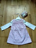 Komplecik bluzeczka sukienka rajtuski body 68 NOWE PREZENT