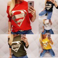 Bluzka supermen uni kolory hit