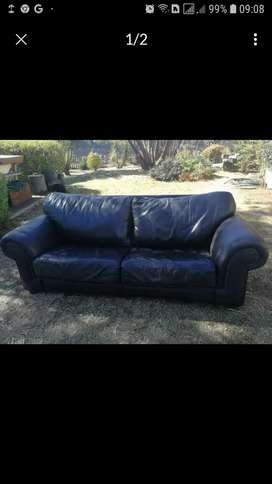 Big Double Leather Couch