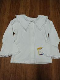 Теплая нарядная блузка/кофта на девочку 3-5 лет