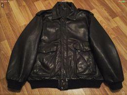 Куртка кожаная мужская Пилот-бомбер ( Италия).