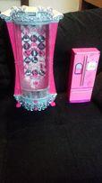 Brokatowe szafa Barbie i lodówka Barbie