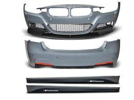 Комплект обвеса BMW F30 M-performance( оптика, спойлера, диффузоры)