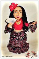кукла ручной работы цыганка мини-бар, тайник для бутылки