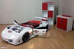 Łóżko w kształcie samochodu- Nowość! Otwierane drzwi