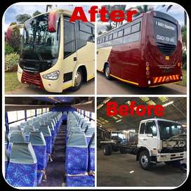 Trucks converted to busses