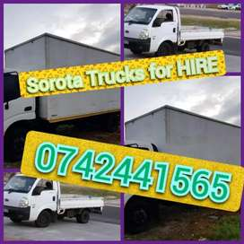 Movers available trucks and Bakkies for hire